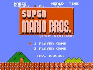 Super Mario Bros. Start Screen