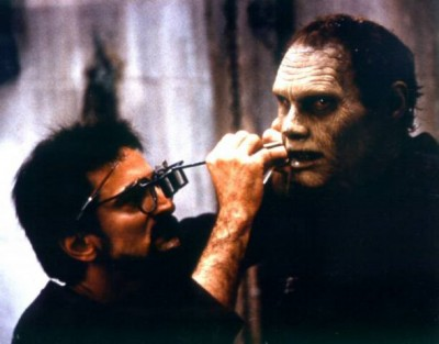 Savini working on Bub zombie from Dawn of the Dead (1978)