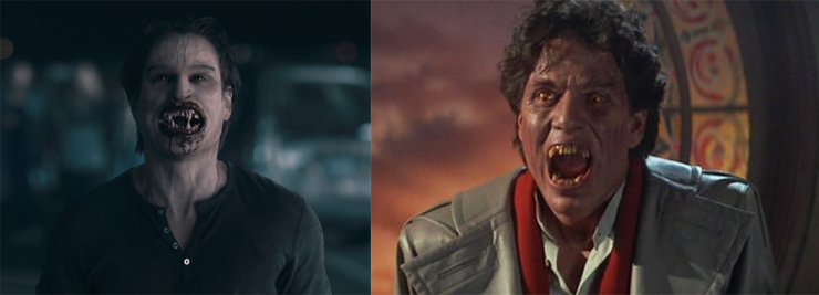Jerry Dandridge from Fright Night (2011 on Left, 1985 on Right)