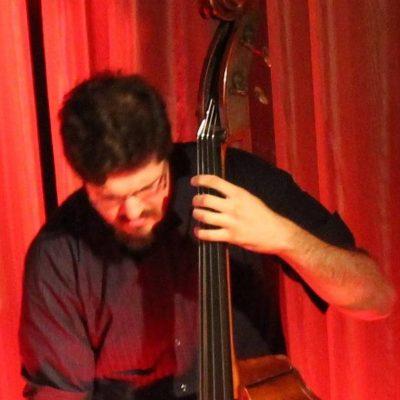 Anthony Casolari playing bass