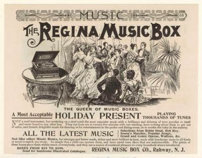 A Century Magazine advertisement for Regina Music Box from the December 1895 Issue