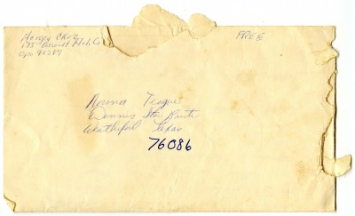 Letter written to Norma Teague, a resident on the Dennis Star Route in Brock, Parker County, Texas. 1968.