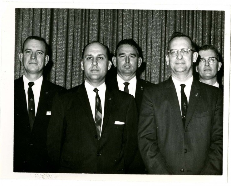1963-64 TIAA Executive Committee: Frank Miller, M. D. Williamson, F. L. Bay, Benton Broschette, and John Ballard