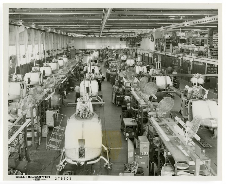 An Assembly Line at Bell Helicopter in Fort Worth