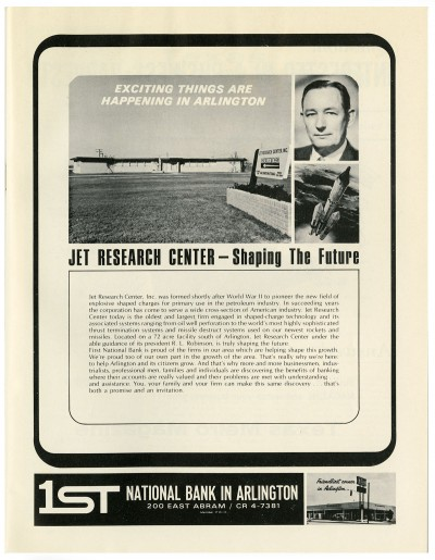 Jet Research Center Advertisement