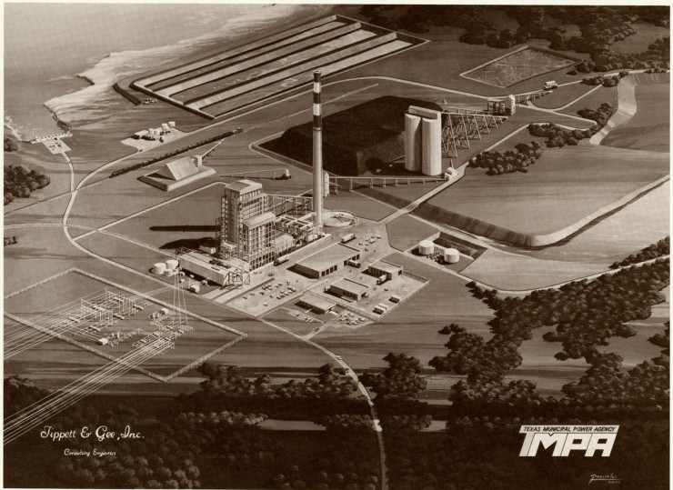 Architectural Rendering of the Gibbons Creek Power Project