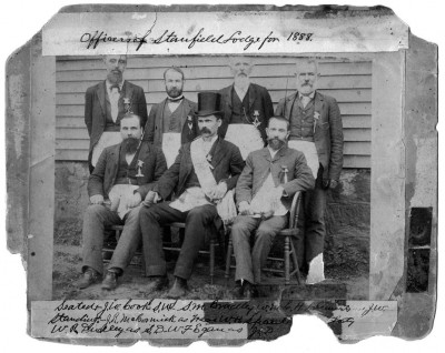 Officers of Stanfield Lodge in Denton
