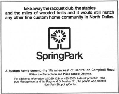 Spring Park Community Advertisement