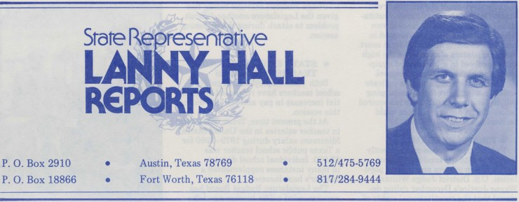 "Taken from the ""Lanny Hall Reports"" newsletter, January 1981, Lanny Hall Collection. UNTA_AR0177-065-001_01"