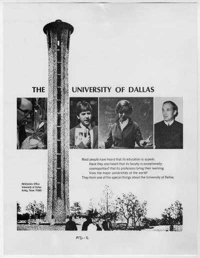 University of Dallas Advertisement, UNTA_AR0327-020-002