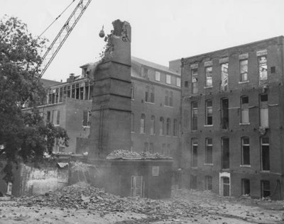 Work, Jim. St. Paul Hospital on Bryan Street demolition. Dallas Medical Images Collection at UT Southwestern Archives.
