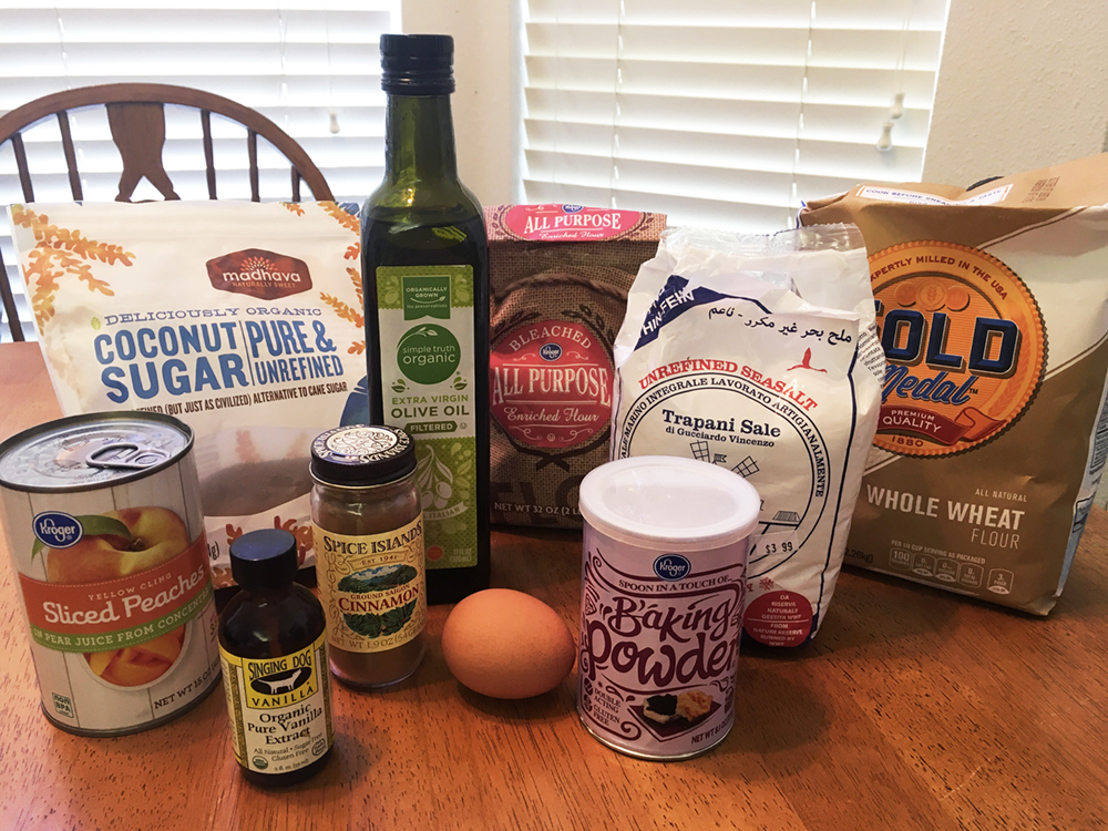 Ingredients for Peach Cobbler