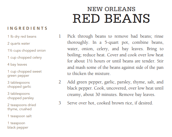 New Orleans Red Beans recipe