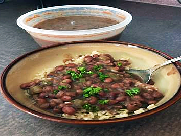 A plate of New Orleans Red Beans