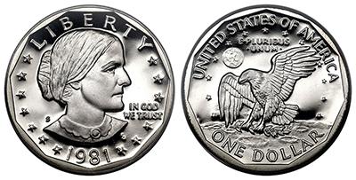Susan B. Anthony silver dollar