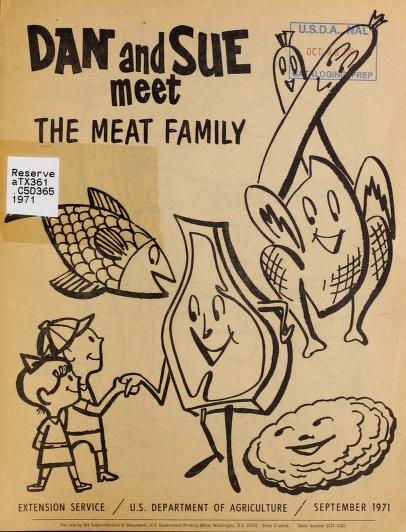 Dan and Sue Meet the Meat Family coloring book