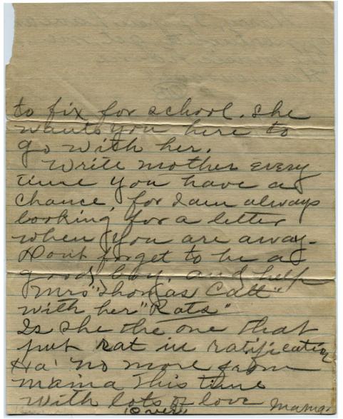 Letter from Febb Burn