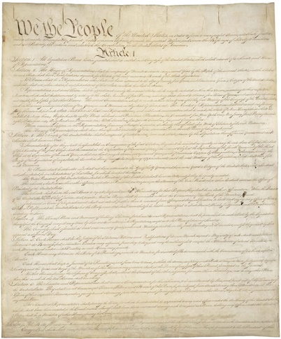 First page of the Constitution of the United States