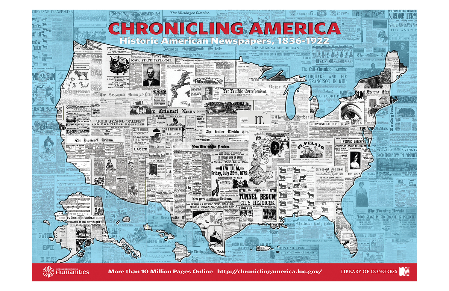 10 Million Page Poster Celebrating 10 Million Pages In Chronicling America