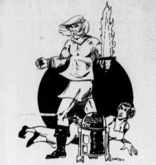 Star Wars sketch, NT Daily, June 30, 1977