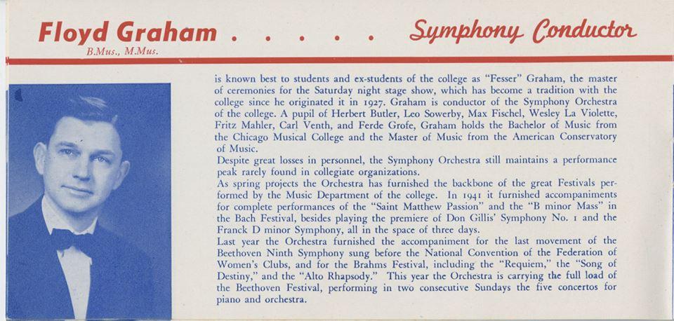 NTSU Lab Jazz Leon Breeden Fall 69 Big Band Concert