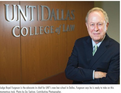 Royal Furgeson, advocate in chief, UNT Dallas College of Law (Photo credit: NT Daily)