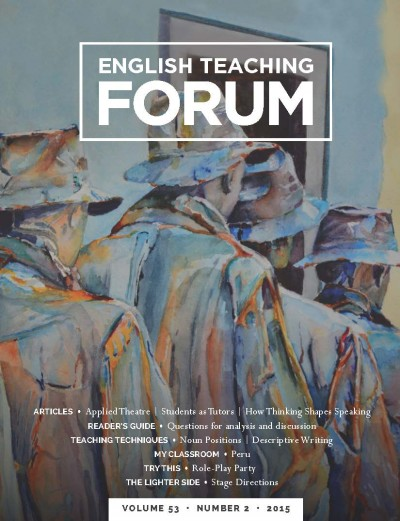 Cover of current issue of English Teaching Forum