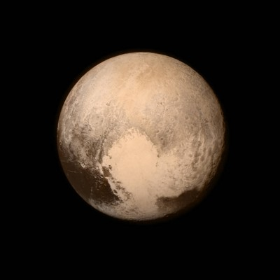 Pluto image from New Horizons flyby