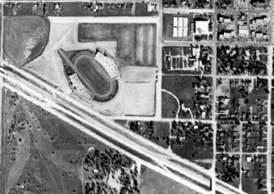 Fouts Field aerial photo