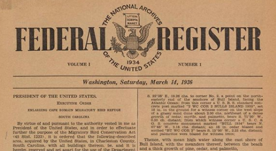 First Issue of the Federal Register