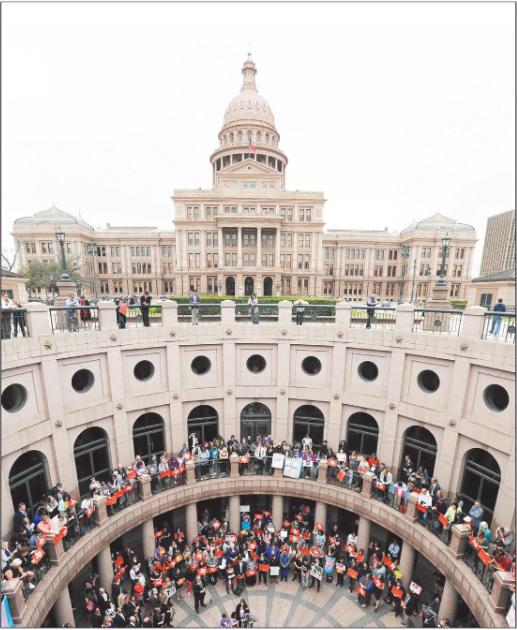 """Protest against SB 6, the Texas """"bathroom bill"""""""