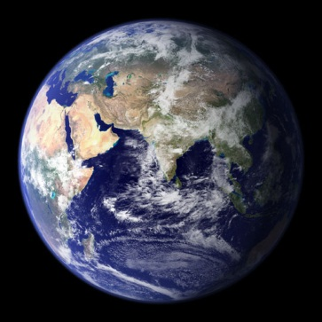 NASA Blue Marble photo of Earth