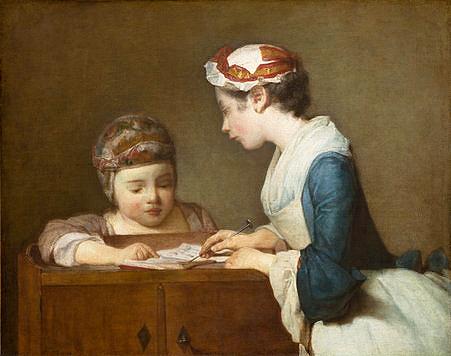 The Little Schoolmistress, by Chardin
