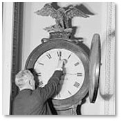 Clock being set forward during World War I