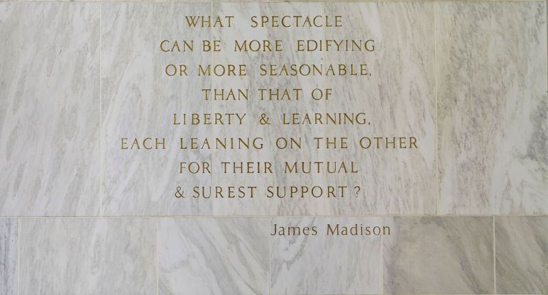 Quote by James Madison at the Library of Congress