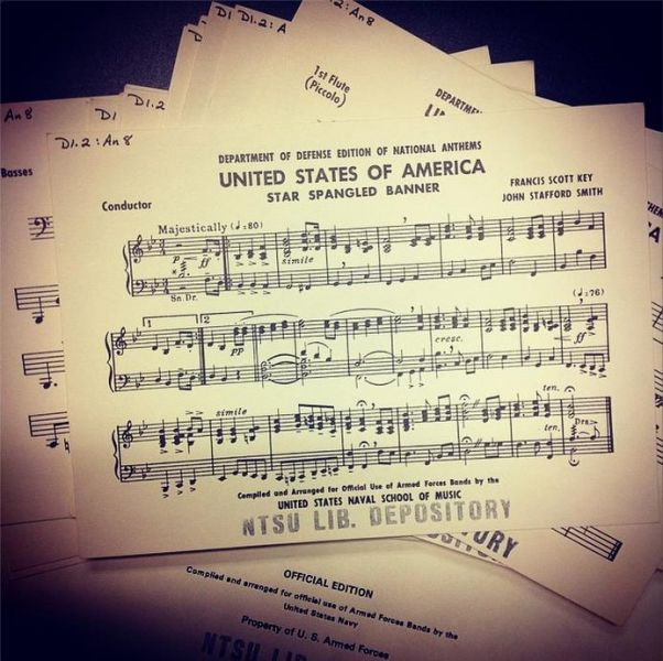 "Band music for ""The Star-Spangled Banner"""