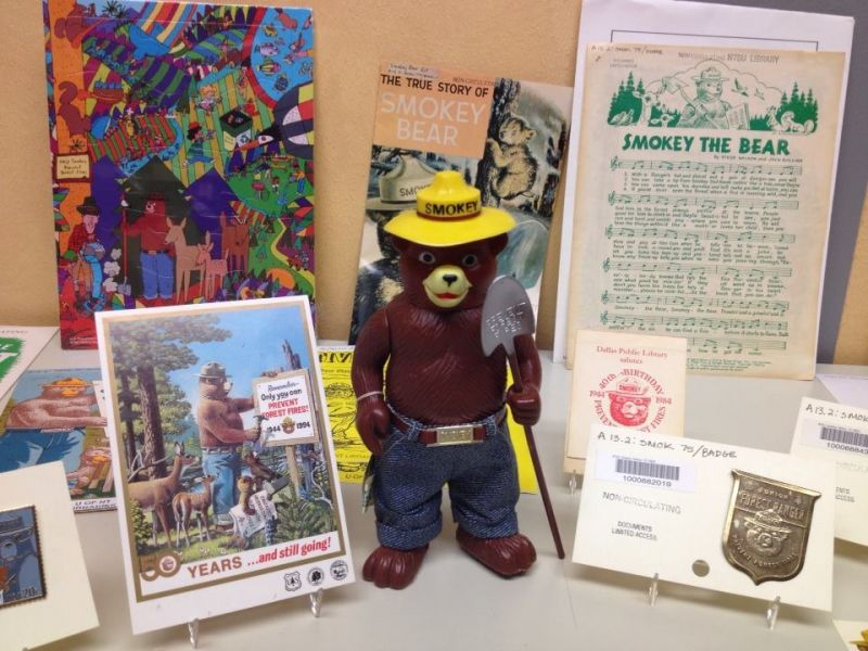 UNT Smokey Bear collection