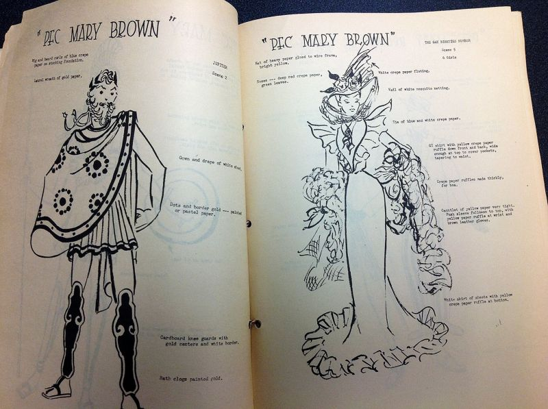 P.F.C. Mary Brown costume designs