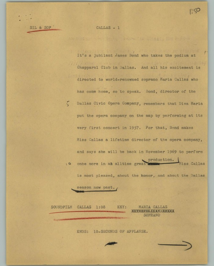Yellowed page filled with typewritten text. Certain words/phrases are underlined.